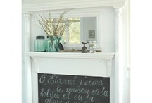 Fireplace Decor / Cool things to do instead of a boring old black box