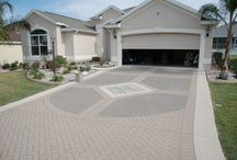 stamped concrete drive