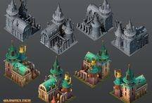 3D buildings and environment