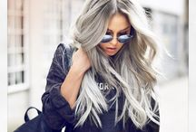 """Grey Hair"" / Grey Hair is just beautiful. It's so modern and has became a trend lately. Definitely my next hair colour. Appointment needs to be made."