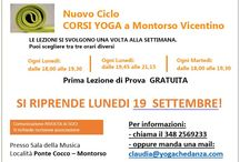 CORSI YOGA MONTORSO VICENTINO / E' partito il nuovo ciclo di corsi YOGA ADULTI a Montorso