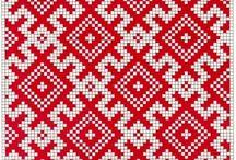 Славянская вышивка или жаккард