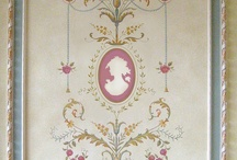 marie antoanette french stile wall painting