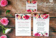 Modern esküvői meghívók - Modern wedding invitation