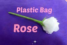 plasticbag flowers