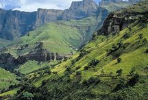SOUTH AFRICA. THE DRAKENSBURG AND KZN....