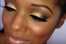 Wedding makeup/nails