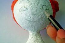 Bonecas (pano, gesso, argila, machê etc...)