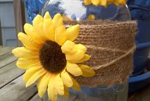 My love of Mason jars & Sunflowers / by Carrie Gomez