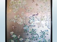 hand painted chinoiserie panel