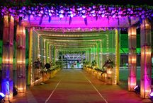 """Sangeet / Lemon green & Lemon yellow combination of drapes and candles that added """"WOW"""" factor to the whole decor!!"""