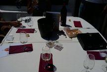 """Cata de vinos D.O. Lanzarote en el mar / """"Taste of wine from lanzarote"""" on board our Catamaran."""