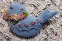 felt craft,animals,insects,flowers