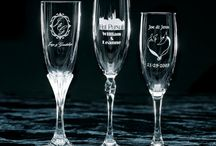 Champagne Flutes / Wedding Toasting Flutes for the Bride & Groom / by Forever Yours Glass Etchings