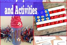 Fourth of July / Fourth of July, 4th of July, July 4th, Independence Day, Red, White, and Blue--crafts, snacks, activities