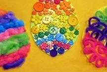 Easter egg craft idea / This page has a lot of free,easy Easter egg craft idea for kids,parents and preschool teachers.