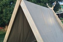 Viking Tents Made by Justin / Justin used to make tepees but now he's a Viking so he's making Viking tents! :)