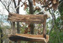 Mangeoires oiseaux en bois