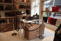 IN STORE ENGRAVING / images of the Fossil store in Bicester where we were invited to engrave their watches for the launch of their new store .