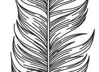 feathers patterns