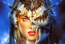 Painter: Luis Royo / Luis Royo (born 1954) is a Spanish artist born in Olalla, a village in the Aragonese province of Teruel. He is best known for his fantasy illustrations published in numerous art books, magazines such as Heavy Metal and various other media including book and music CD covers, video games and Tarot cards.