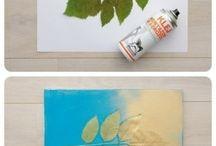 Листья вместо трафарета