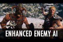 Skyrim mods - combat