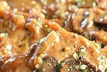 Porkchops in mushroom sauce