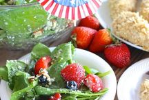 Red, White and Blue Recipes / Show your patriotism -- from Labor Day to July 4th -- with these innovative red, white and blue creations from Healthy Aperture bloggers.   / by HealthyAperture