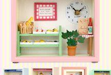 Home decoration, Dollhouse Clock, 홈데코, 돌하우스시계