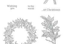 SU! Peaceful Wreath / Inspirations gathered for use with SU! Peaceful Wreath stamp set.