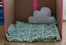 casinhas de papelão