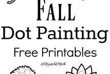 Fall Dot painting
