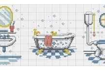 cross stitch baños