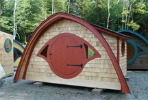 Hobbit Hole Cottages / Whether for a hideaway, workspace, guest accommodations-- or a new take on tiny house living! / by Wooden Wonders Hobbit Holes