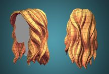 hair low poly