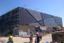 Riyhad Bank_working progress...... / Laminam 3+ Blend Nero & Blend Grigio 1000x1500 Exterior application Ventilated Façade
