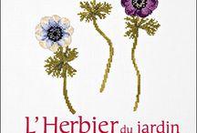 """cross stitch """"l'herbier du jardin"""""""