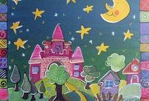 Kinderzimmerbilder / Liebevoll handgemalte Bilder für Kinder.