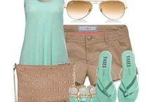 Mint green top outfits