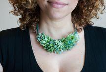 pozsgás ékszerek, succulent jewelry / pozsgás ékszerek, succulent jewelry
