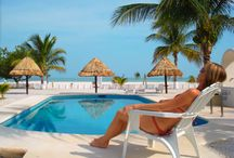 Beach Hotels / Beachfront Hotels in Holbox. Cabañas Bungalows Hotels Boutique