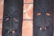wooden face african