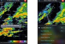 App: Weather / мудборд для погодных приложений