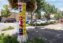 Fairhope Art on a Limb Projects! / Fairhope has been YARN BOMBED! Just over 40 teams of artists decorated the downtown trees of Fairhope, Alabama in colorful coats over the weekend in the latest Eastern Shore Art Center community art project Art Art On A Limb!