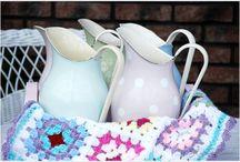 MY EMALiOVE / Kitchen utensils and crochet granny squares