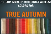 True Autumn Seasonal Colour Palette - Colour Analysis / Color Analysis / A few pics of outfits and hair colours in the True Autumn seasonal colour palette. Notes: - for outfit pictures, please ignore hair colours as these have not been assessed for optimal hair colour alignment with palette. - for hair colour pictures, please ignore outfit colours and skin colouring of models as these have not been assessed for alignment in palette.