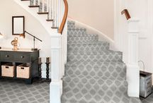 """Stairs / Because they are often used, stairs like hallways face a high-rate of foot traffic. It is recommended that the highest durability rated carpet and padding be chosen for these areas of the home. High density, cut-pile or tightly looped pile carpet will stand up to repeated use and is resilient to footprints and ground soil. Couristan also offers an assortment of roll runners available in 26"""" and 31"""" widths and can be cut to your desired length."""