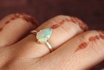 Opal Engagement Rings / One of a kind designer opal engagement rings