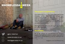 #HOMELESS4AWEEK / #HOMELESS4AWEEK - This project aims to challenge perceptions & address the unmet health needs of the homeless community in Leicester.